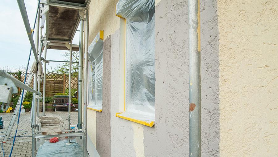 Baustelle während der Malerarbeiten