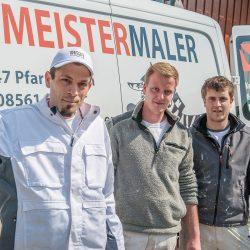Das Team des Meister-Malers
